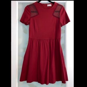 Red Valentino Short Sleeve Dress